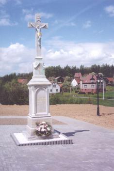 Renovovaný kříž nahřbitově (r. 2004)
